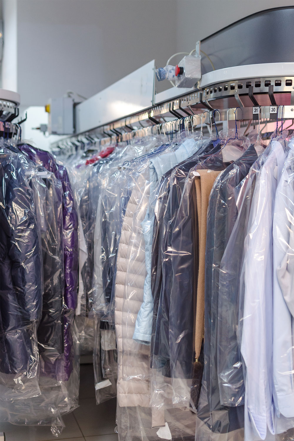 drycleaned clothing